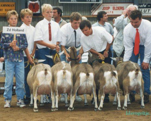 Nat. CW-keuring Luttenberg 1995; provinciale groep3 jaar en ouder 1a Zuid-Holland.