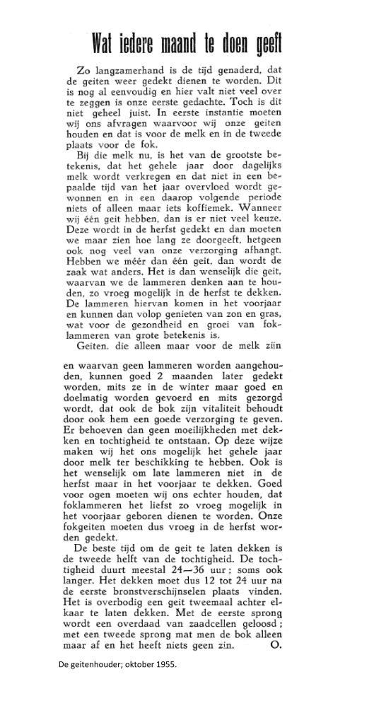 weblog; November 1955 De geitenhouder
