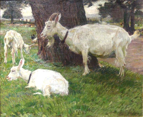 Julius Paul Junghanns Drei Ziegen am Baum