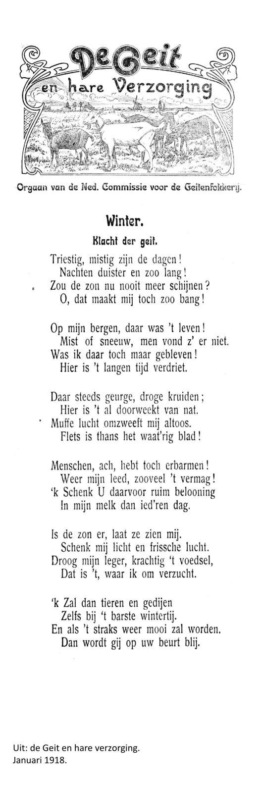 Weblog; Januari 1918 gedicht