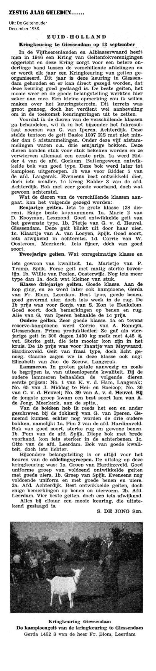 Weblog december 1958 Verslag keuring Kring