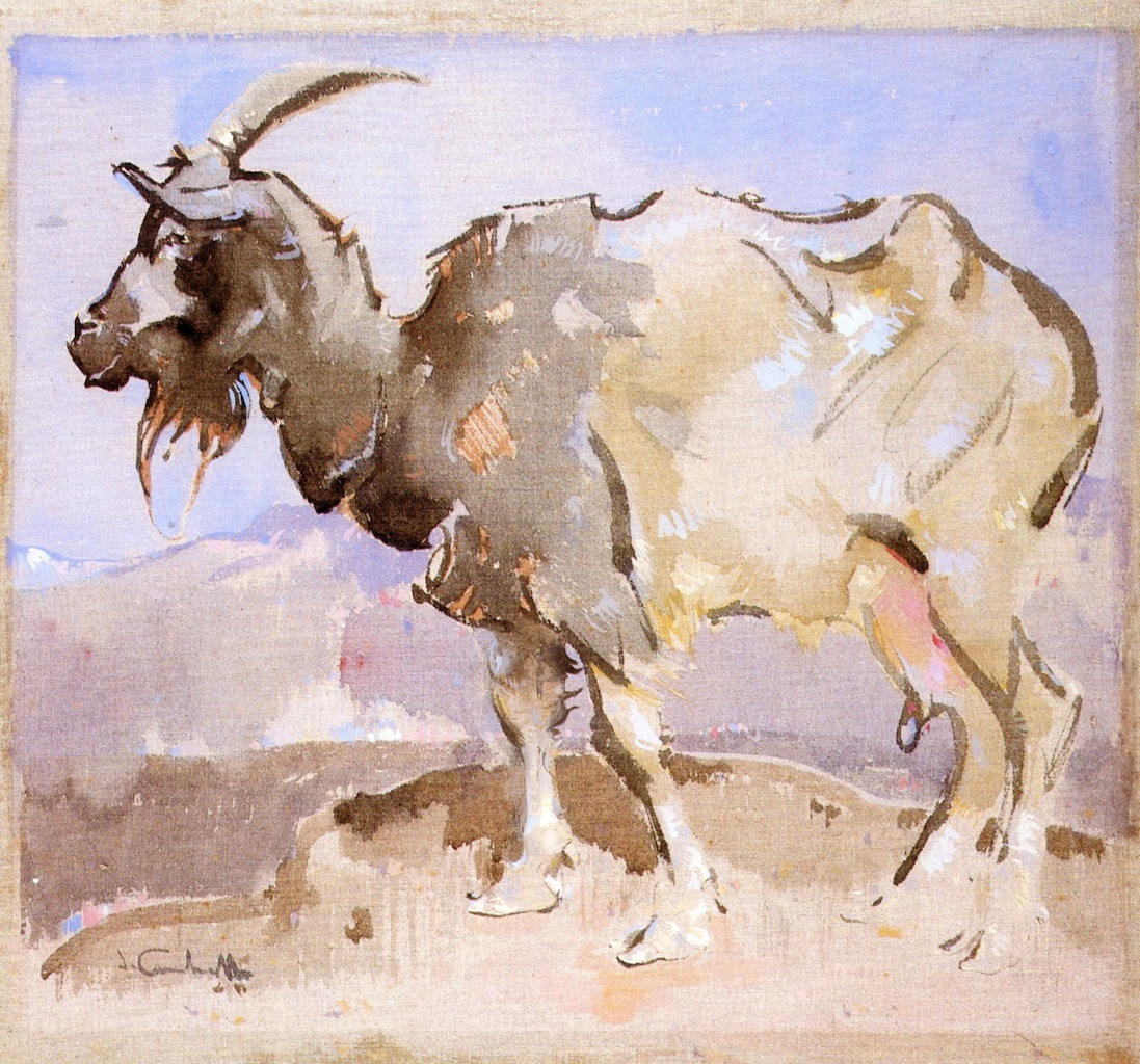 The-Goat-Joseph-Crawhall-oil-painting-1